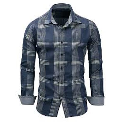 Long Sleeve Checkered Casual Shirt