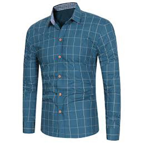 Long Sleeve Grid Pattern Casual Shirt