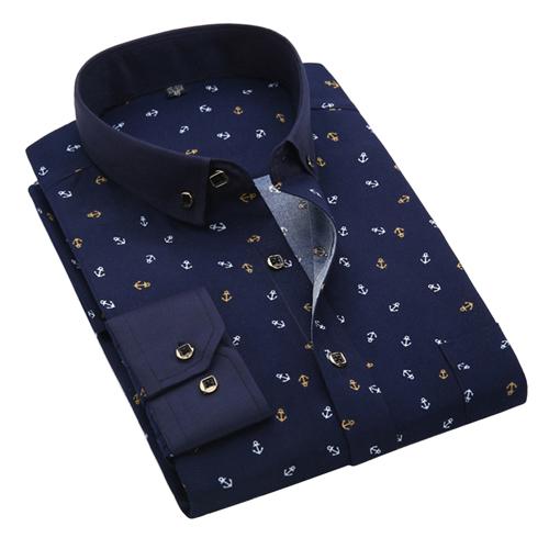 Men's Long Sleeve Casual Printed Shirts