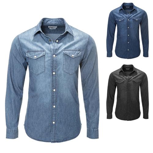 Men's Casual Long Sleeves Denim Shirt
