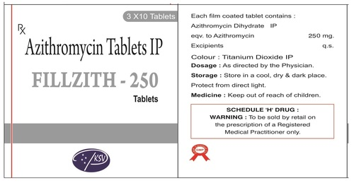 250 mg Azithromycin Tablet