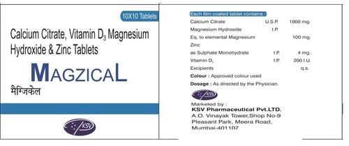 Calcium Citrate + Magnesium + Zinc + Vitamin D3