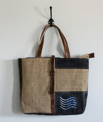 jute canvas tote bag