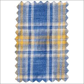 Blue Yellow Linen Fabric
