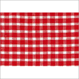 red check linen fabric
