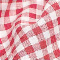 Small Check Linen Fabric
