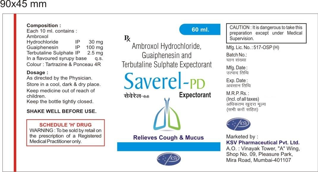Ambroxol 15mg + Guaifenesin 50mg + Terbutaline 1.25mg