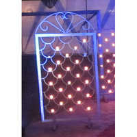 Iron candle wall panel