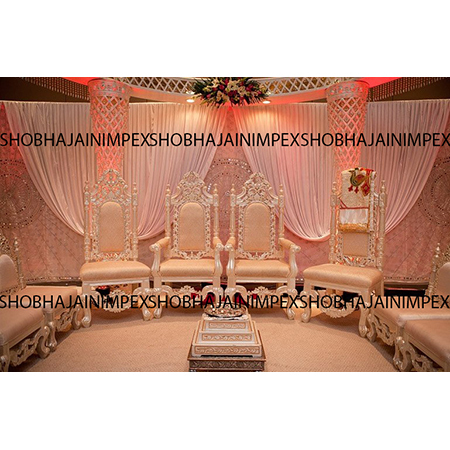 Traditional Wedding Mandap Chair Set