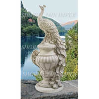 Peacock Statue with Pot