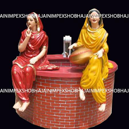 Punjabi Ladies Statue with Well