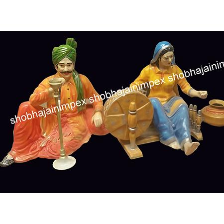 Seating Punjabi Statues