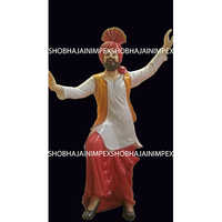 Punjabi Fiber Statue for Decoration