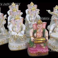 Ganesh ji Statue with Musical Instruments