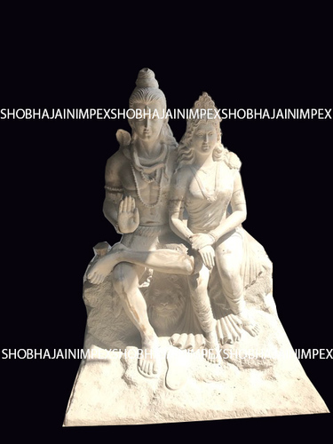 Shiva Parvati Fiber Statue