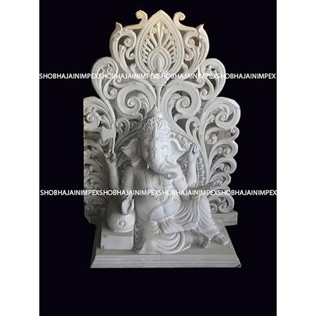 SItting Ganesh ji Statue with Back