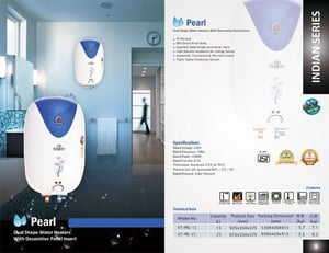 Kalptree - Pearl  15 Litres Electric Water Heater / Geyser (All India Home Service)