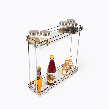 Bottle Pull Out 2 Shelf Euro