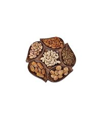 Wooden clave Hexad Dry Fruit Tray