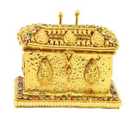 Hi Gold LCT Ruby Onex Austrian Diamond With Pearl Reverse AD Sindoor Dabbi