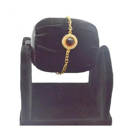 Hi Gold White Maroon With American Diamond Reverse AD Bracelet