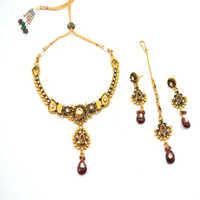 Austrian Diamond Gold Necklace Kundan Necklace Set
