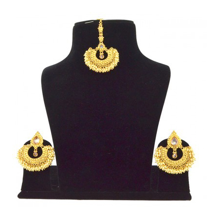Hi Gold LCT Reverse AD Pearl Earring