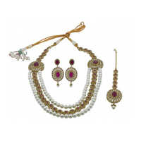 Kundan Pearls Necklace Set