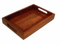 Crafts'Man Elegant Wooden Hand Crafted Fruit Serving Tray For Dining Table