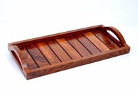 Indian Rosewood Sheesham Wood Handmade & Handcrafted Wooden Serving Tray