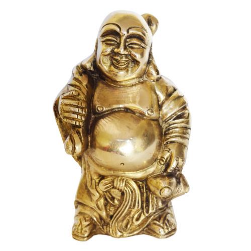 Brass Laughing Buddha Statue Decorative Showpiece Feng shui Sculpture