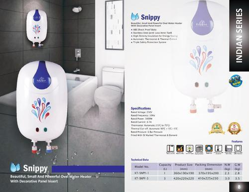 Instant Water Heater - SNIPPY - 1 & 3 Litre