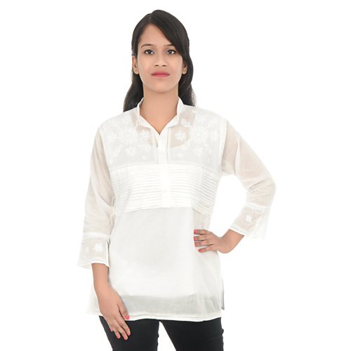 Soft Cotton Lucknow Chikan Kurti