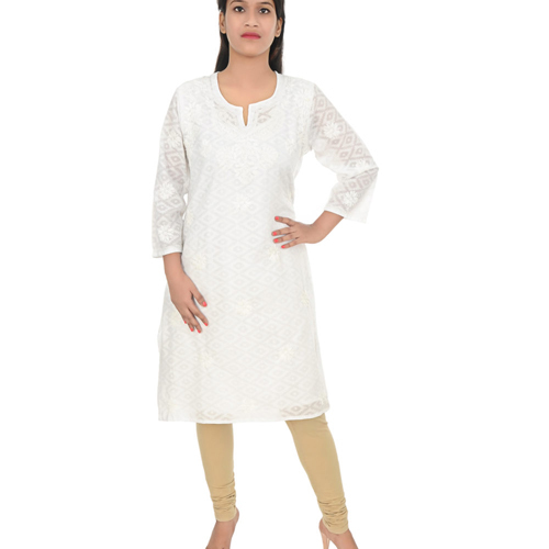 Cotton Lucknow Chikan Kurti