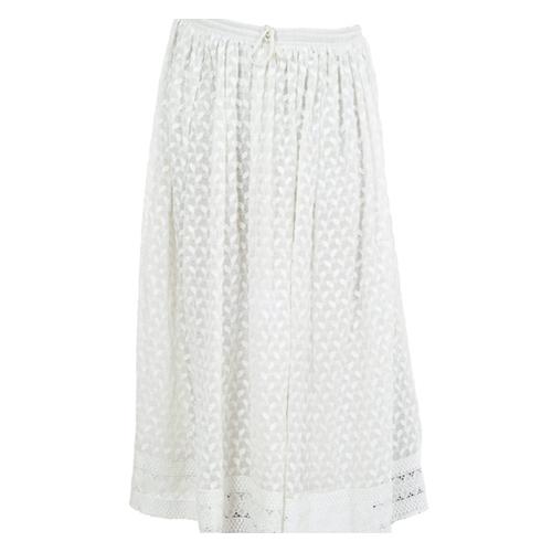 Georgette Haqooba Lucknow Chikan Skirt