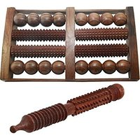 Handicrafted Foot Roller 8 Slot (With Free Jimmy) Massager