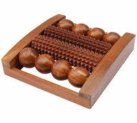 Wooden Foot/Feet Massager Roller Stress Acupressure