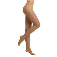 Patent Tights with Ladies Shaper Beige