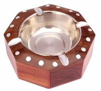 Handmade Wooden Ashtray for Men Home Office Car Gifts