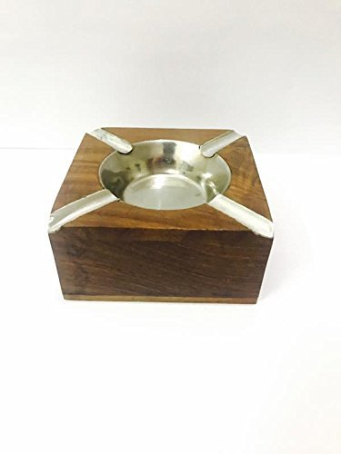 Handmade Wooden Ashtray for Home Office Car Gifts