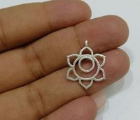 Silver Plated Fancy Star Metal Charm Pendant-Jewelry Findings Charms