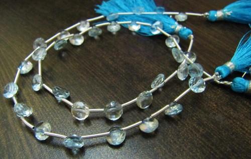 AAA Quality Natural Genuine Blue Topaz Onion Shape Beads