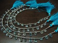 AAA Quality Natural Blue Topaz Tear Drop Shape Faceted Beads