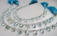 AAA Quality Natural Blue Topaz Pear Shape Faceted Beads