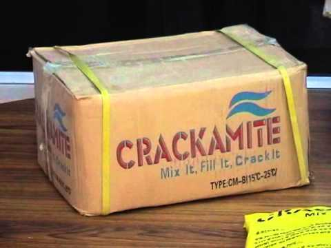 Non Explosive demolition powder ( Crackamite )