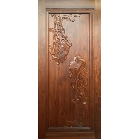 Sagwan wood CNC doors