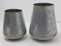 Galvanized Planter set of 2