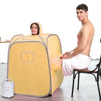 Steam Sauna Cube Steam foot Relax Slimming Improves Blood Circulation Cabin