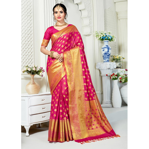Ladies Embroidery Silk Saree