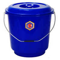13 Ltrs Blue Plastic Bucket